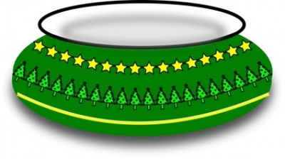 Free vector Vector clip art  Christmas Bowl
