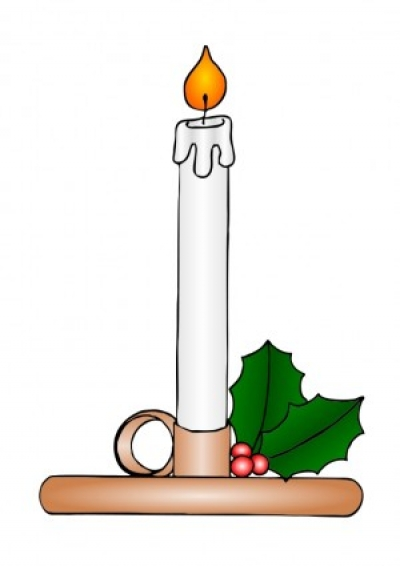 Free vector Vector clip art  Christmas Candle