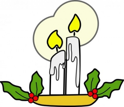 Free vector Vector clip art  Christmas Candles clip art