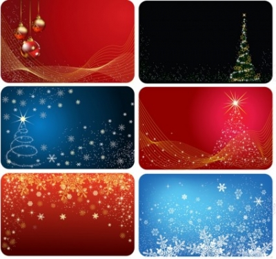 Free vector Vector Christmas  Christmas cards six version