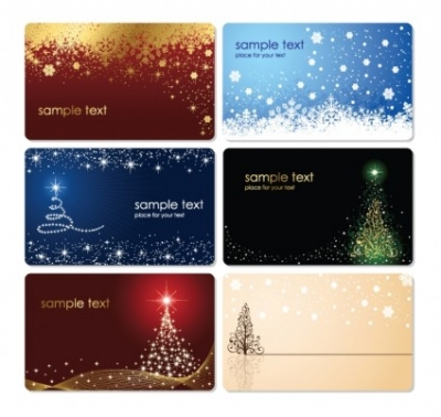 Free vector Vector Christmas  Christmas Cards Vector Set