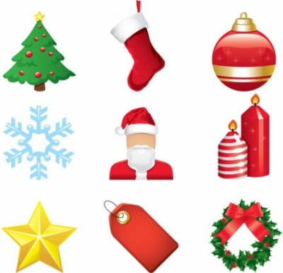 Free vector Vector cartoon  christmas cartoon elements vector
