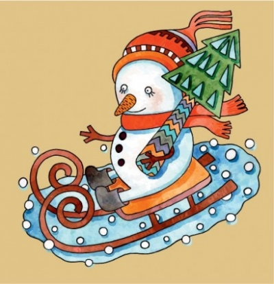 Free vector Vector cartoon  christmas cartoon illustration 03 vector