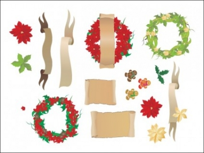 Free vector Vector Christmas   								Christmas Decorations