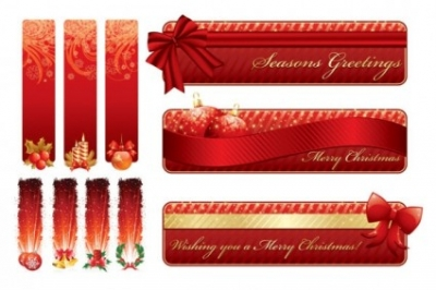 Free vector Vector banner  christmas decorative banner vector