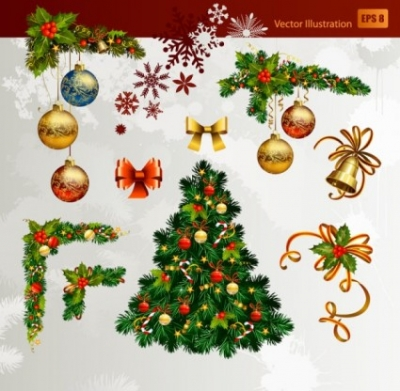 Free vector Vector Christmas  christmas decorative elements 01 vector