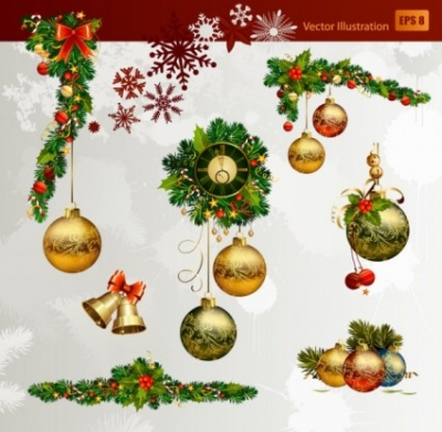 Free vector Vector Christmas  christmas decorative elements 02 vector