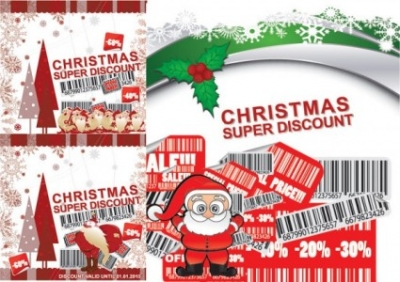 Free vector Vector Christmas  christmas discount sales vector