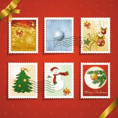 Free vector Vector Christmas  christmas elements stamp 03 vector