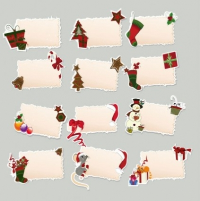 Free vector Vector Christmas  christmas elements stickers 02 vector