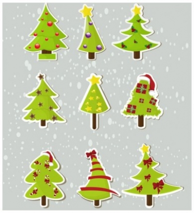 Free vector Vector Christmas  christmas elements stickers 04 vector