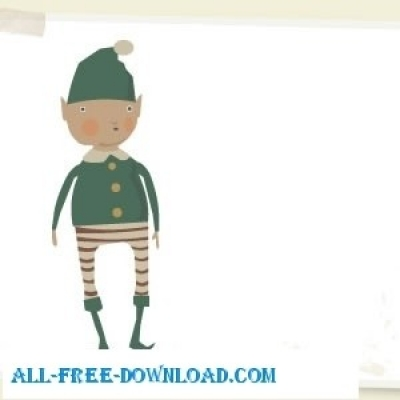 Free vector Vector cartoon  Christmas Elf