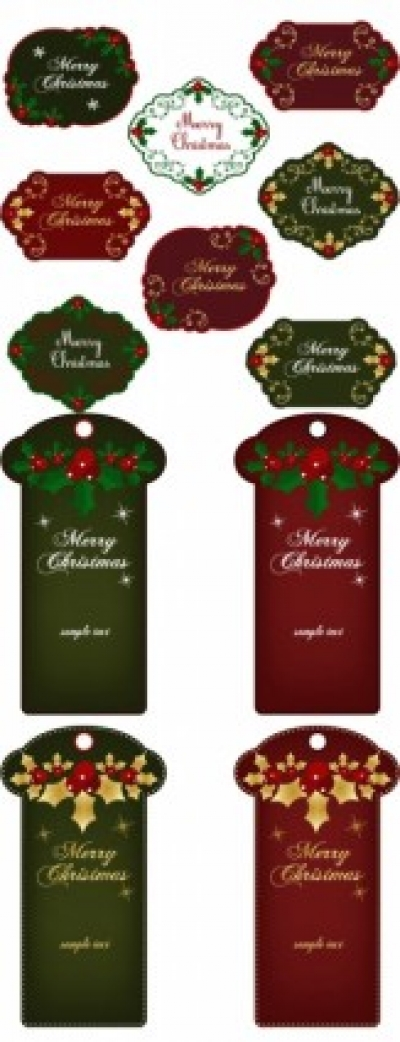 Free vector Vector Christmas  christmas exquisite label 02 vector