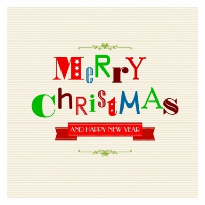 Free vector Vector misc  Christmas Greetings with Funky Letters