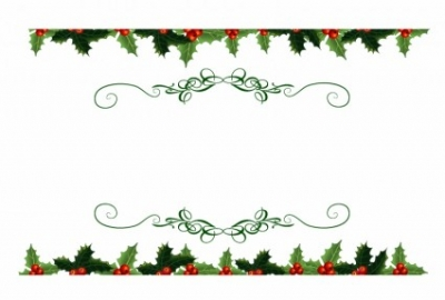 Free vector Vector Christmas  Christmas Holly Top And Bottom