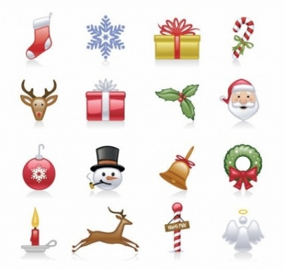 Free vector Vector icon  Christmas Icons Vector Set