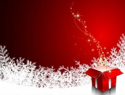 Free vector Vector misc  Christmas illustration with gift box
