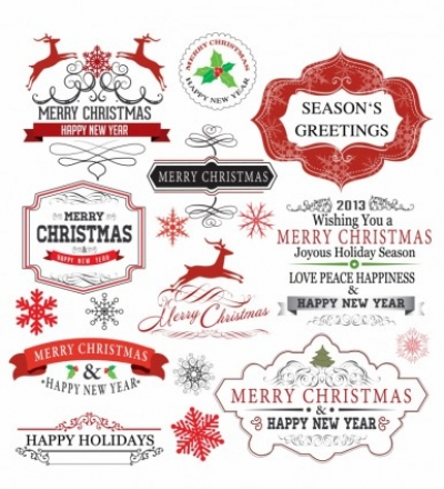 Free vector Vector Christmas  Christmas Labels