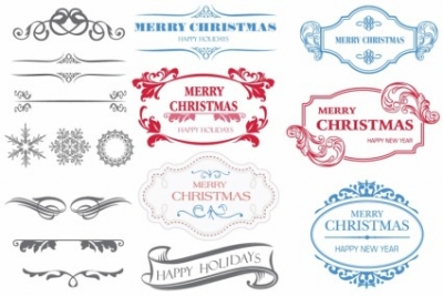 Free vector Vector misc  Christmas Labels
