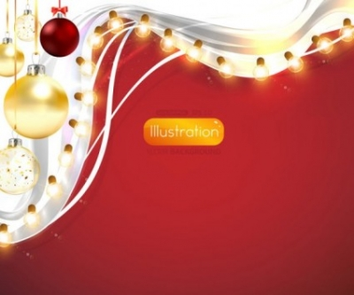 Free vector Vector background  christmas lights bright background 03 vector