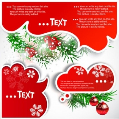 Free vector Vector Christmas  christmas notes 01 vector