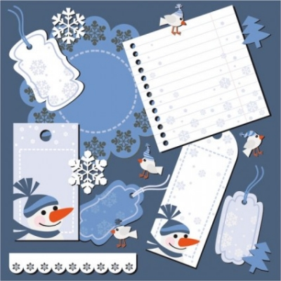 Free vector Vector Christmas  christmas notes stickers 04 vector