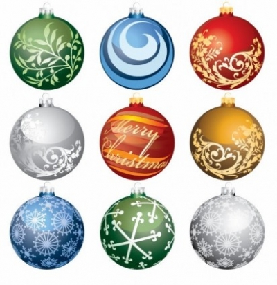 Free vector Vector Christmas  Christmas Ornament Balls Vector Set
