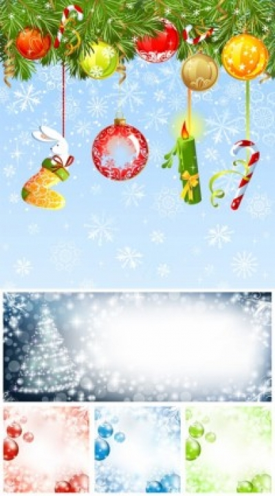 Free vector Vector background  christmas ornaments and background vector