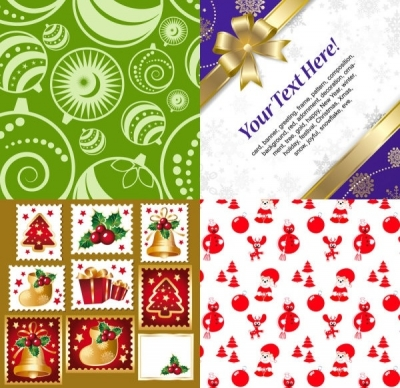 Free vector Vector Christmas  christmas ornaments around the product vector