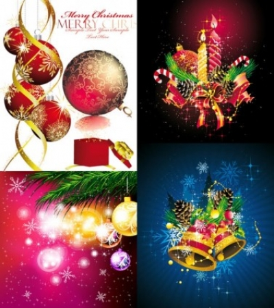 Free vector Vector background  christmas ornaments beautiful background vector