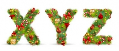 Free vector Vector Christmas  christmas ornaments composed of letters 05 vector