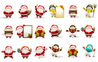 Free vector Vector icon  Christmas Santa Icon Set