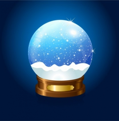 Free vector Vector misc  Christmas Snow globe on blue background