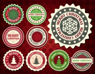 Free vector Vector pattern  christmas snowflake pattern label 01 vector