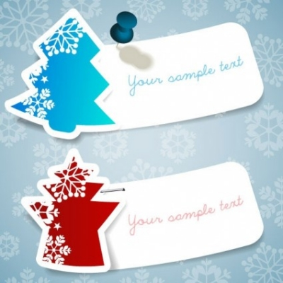 Free vector Vector Christmas  christmas snowflake stickers vector