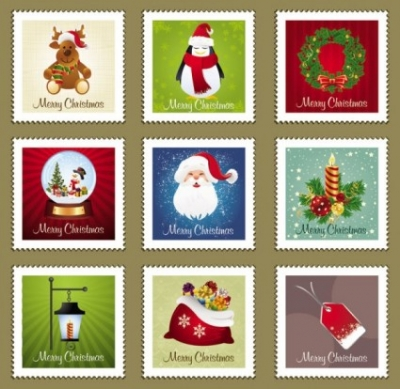 Free vector Vector Christmas  christmas stamp element 01 vector