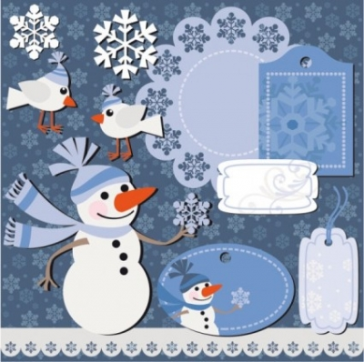 Free vector Vector Christmas  christmas sticker notes 01 vector