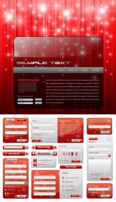 Free vector Vector Christmas  christmas style web design elements vector