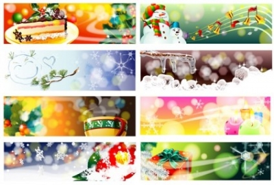 Free vector Vector banner  christmas theme vector dream banner