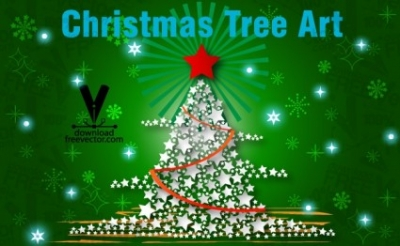 Free vector Vector Christmas  Christmas Tree Art