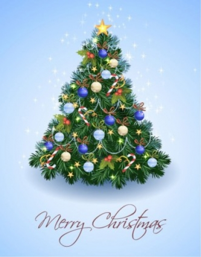 Free vector Vector Christmas  Christmas Tree from Light Vector