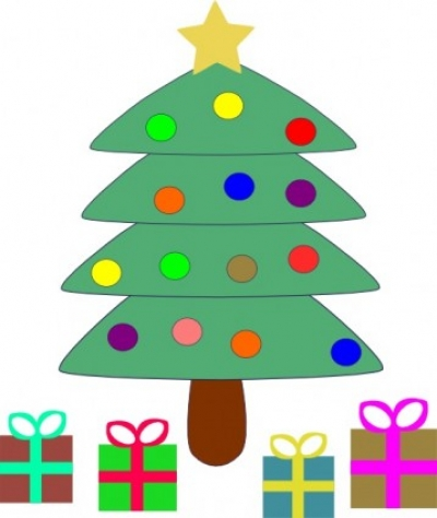 Free vector Vector clip art  Christmas Tree Gifts clip art