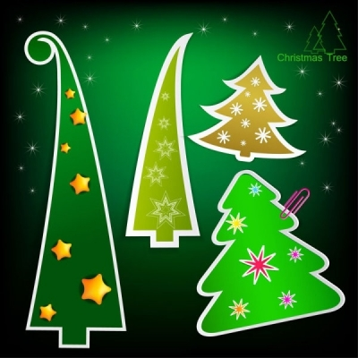 Free vector Vector Christmas  christmas tree tags 03 vector