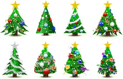 Free vector Vector Christmas  christmas tree vector