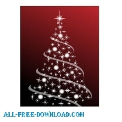 Free vector Vector Christmas  Christmas Tree Vector 2