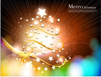 Free vector Vector background  christmas tree with star vector fantasy background