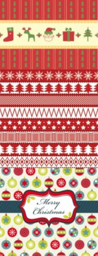Free vector Vector background  christmas two sides continuous background 02 vector