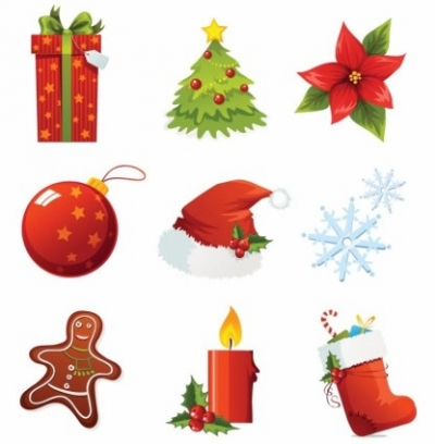Free vector Vector icon  Christmas Vector Icons