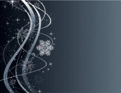 Free vector Vector background  Christmas Wave Background with Snowflake Ornaments