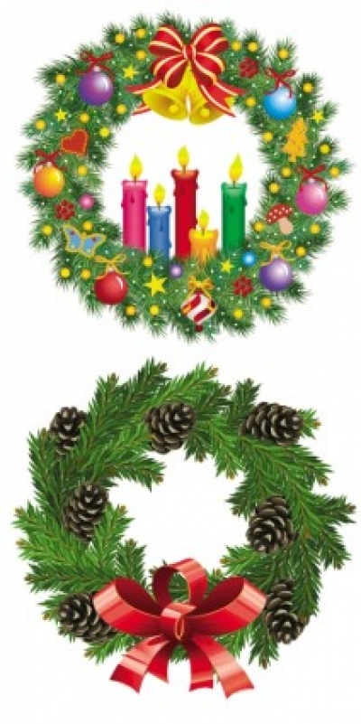 Free vector Vector Christmas  christmas wreath 1 vector